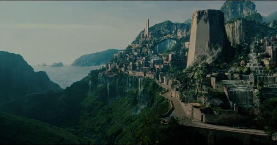 """Themyscira"" (or ""Paradise Island"") from Warner Brothers' ""Wonder Woman"" movie. (Screengrab from ""Wonder Woman"" trailer)"
