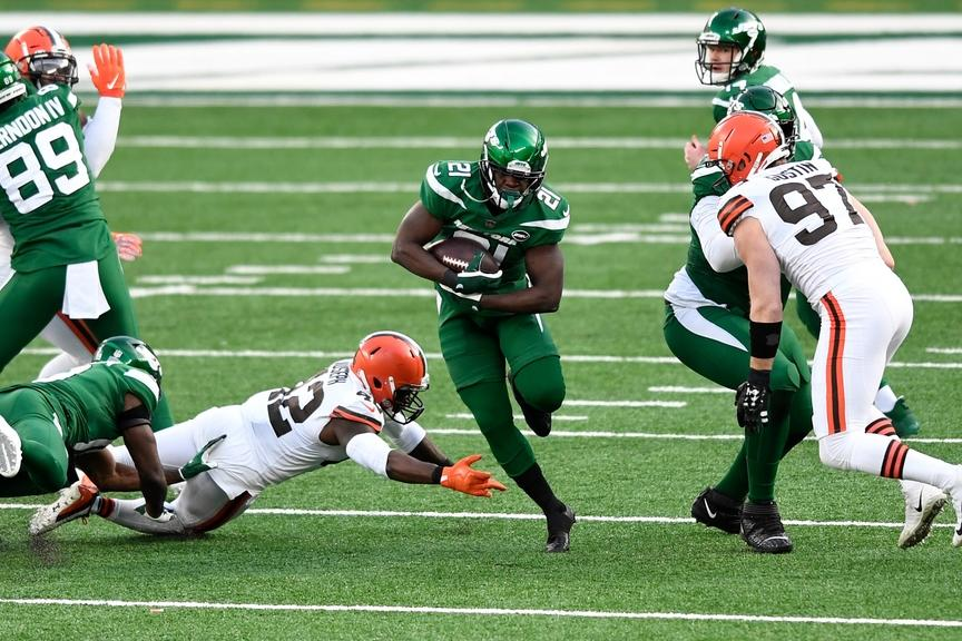 Frank Gore rushes vs. Browns