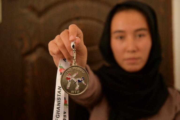Around 130 Afghan girls and women aged 12-25 are members of a taekwondo gym in Herat, but they are not allowed to train (AFP/Hoshang Hashimi)