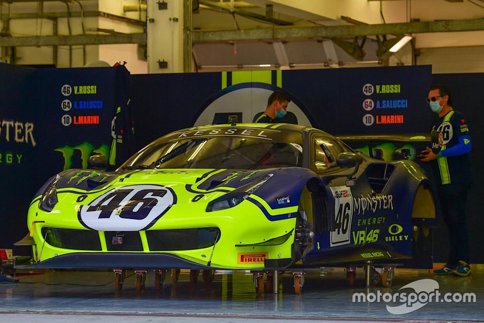 "#46 Kessel Racing Monster VR46, Ferrari 488 GT3: Valentino Rossi, Alessio Salucci, Luca Marini<span class=""copyright"">Gulf 12 Hours</span>"
