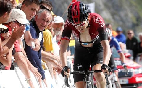 <span>Geraint Thomas struggled in the high mountains on Saturday</span> <span>Credit: AP </span>