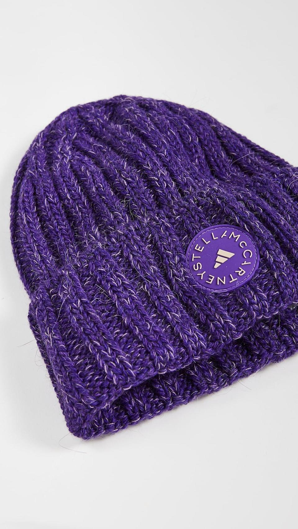 <p>You can even exercise in this cute <span>Adidas by Stella McCartney Beanie Hat</span> ($57).</p>
