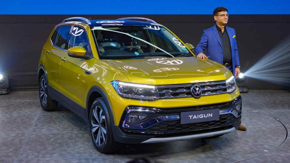 The Volkswagen Taigun will be available in Dynamic and Performance lines. Image: Tech2/Tushar Burman