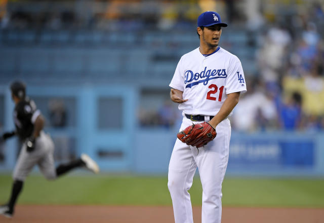 Yu Darvish allowed three home runs in his first home start at Dodger Stadium. (AP)