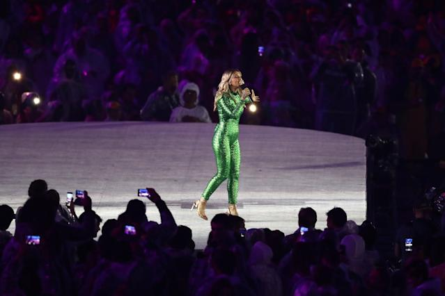 """<p>Electronic music artist Kygo and singer-songwriter Julia Michaels perform the song """"Carry Me"""" at the 'Olympic Channel' launch during the Closing Ceremony on Day 16 of the Rio 2016 Olympic Games at Maracana Stadium on August 21, 2016 in Rio de Janeiro, Brazil. (Photo by Alexander Hassenstein/Getty Images) </p>"""