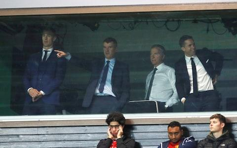 Sky pundits at Old Trafford - Credit: Reuters