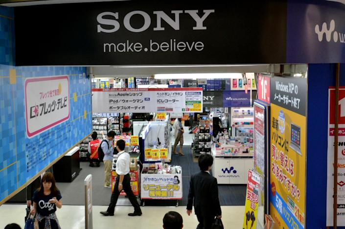 Sony has cut expectations for sales in the smartphone business, which has been reporting operating losses as it faces off against global rivals including Apple and South Korea's Samsung (AFP Photo/Yoshikazu Tsuno)