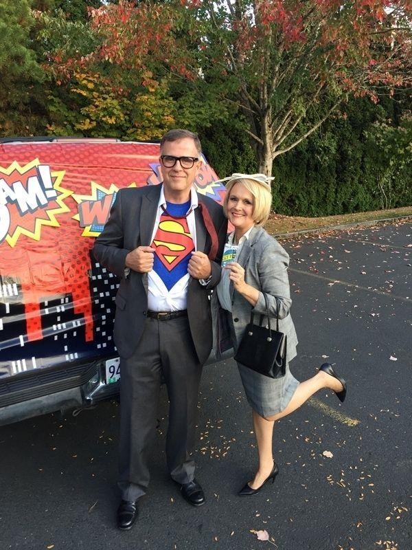 """<p>Since your love story is one for the (comic) books, opt for this classic costume. Clark Kent will even get a laugh each time he unveils his superhero costume underneath his party disguise. </p><p><a class=""""link rapid-noclick-resp"""" href=""""https://www.amazon.com/DC-Comics-Superman-Classic-T-shirt/dp/B0089GK3D6/?tag=syn-yahoo-20&ascsubtag=%5Bartid%7C10055.g.2625%5Bsrc%7Cyahoo-us"""" rel=""""nofollow noopener"""" target=""""_blank"""" data-ylk=""""slk:SHOP SUPERMAN T-SHIRT"""">SHOP SUPERMAN T-SHIRT</a></p><p><em><a href=""""https://www.yourhomebasedmom.com/clark-kent-and-lois-lane/"""" rel=""""nofollow noopener"""" target=""""_blank"""" data-ylk=""""slk:Get the tutorial at Your Homebased Mom »"""" class=""""link rapid-noclick-resp"""">Get the tutorial at Your Homebased Mom »</a></em></p>"""