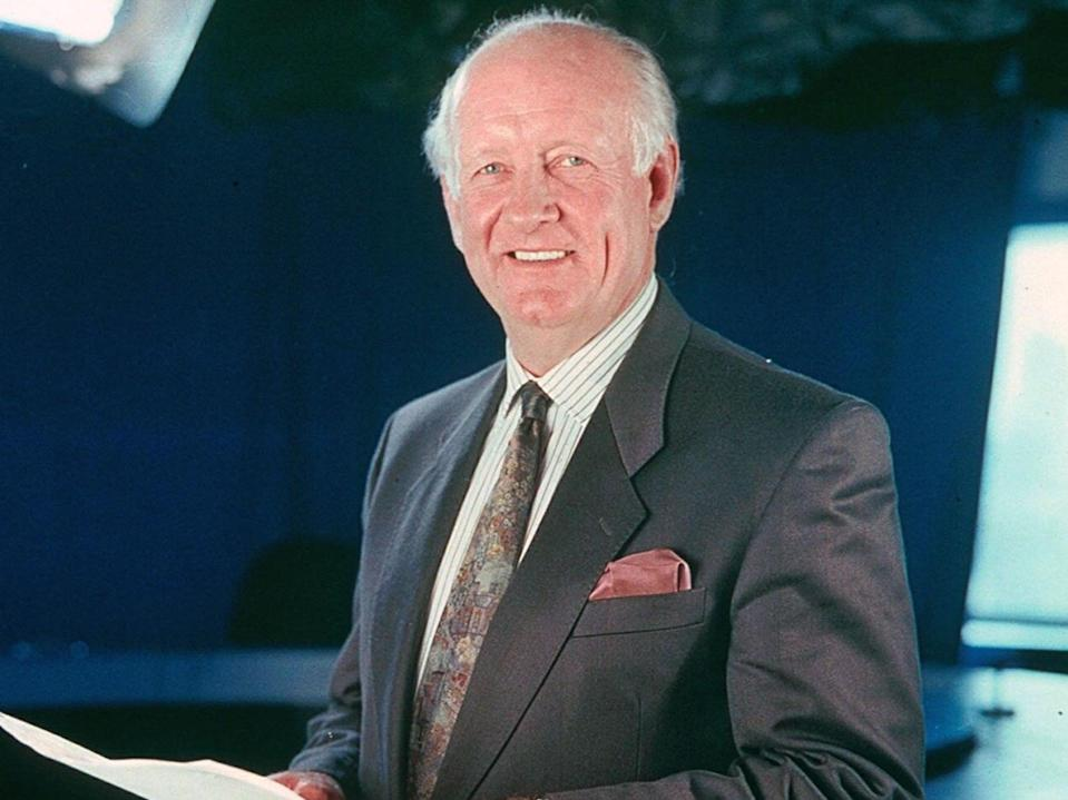 Frank Bough 'excelled as a live presenter for many years', the BBC said in a tribute (Rex Features)