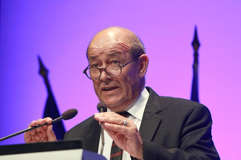 French Defense Minister Jean-Yves Le Drian attends a defense congress on September 9, 2014 in the southwestern French city of Bordeaux (AFP Photo/Nicolas Tucat)