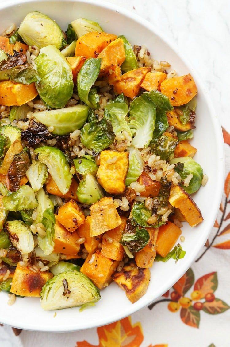"""<p>Dijon dressing tastes delicious mixed with sprouts and sweet potato pieces in this fall salad.</p><p><strong>Get the recipe at <a href=""""https://www.yellowblissroad.com/thanksgiving-salad/"""" rel=""""nofollow noopener"""" target=""""_blank"""" data-ylk=""""slk:Yellow Bliss Road"""" class=""""link rapid-noclick-resp"""">Yellow Bliss Road</a>.</strong></p><p><strong><a class=""""link rapid-noclick-resp"""" href=""""https://go.redirectingat.com?id=74968X1596630&url=https%3A%2F%2Fwww.walmart.com%2Fbrowse%2Fhome%2Fthe-pioneer-woman-cookware%2F4044_623679_6182459_9190581&sref=https%3A%2F%2Fwww.thepioneerwoman.com%2Ffood-cooking%2Fg33980564%2Fthanksgiving-salad-recipes%2F"""" rel=""""nofollow noopener"""" target=""""_blank"""" data-ylk=""""slk:SHOP COOKWARE"""">SHOP COOKWARE</a><br></strong></p>"""