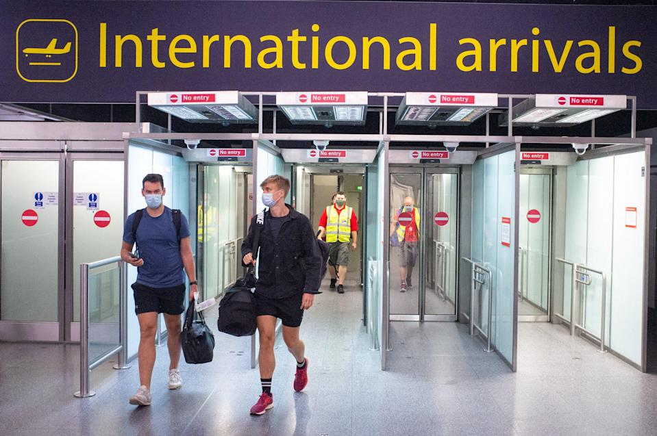 Airport arrivals (PA Archive)