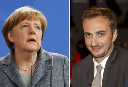 A combination of pictures shows German Chancellor Merkel and German comedian Boehmermann