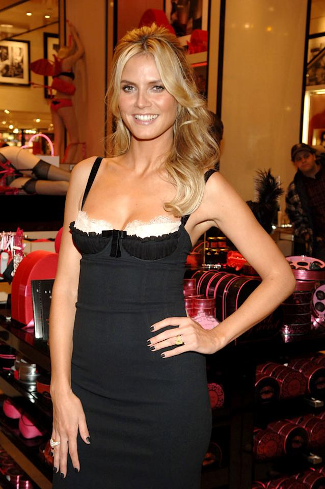"""Project Runway"" host Heidi Klum shows support for Victoria's Secret. Theo Wargo/<a href=""http://www.wireimage.com"" target=""new"">WireImage.com</a> - February 9, 2006"