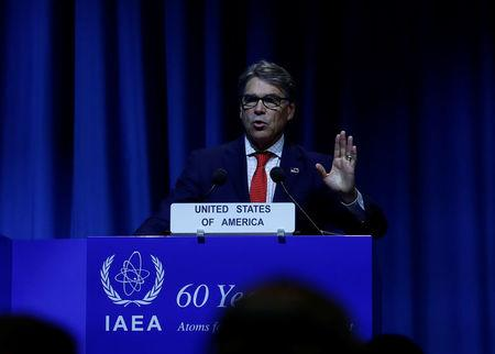 U.S. Energy Secretary Perry attends the opening of the IAEA General Conference in Vienna