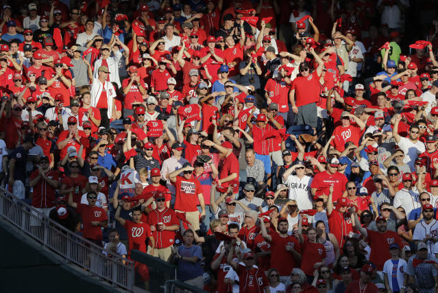 The stands at Nationals Park might not remain this packed if Game 5 against the Cubs goes past 11:48p.m. (AP Photo)