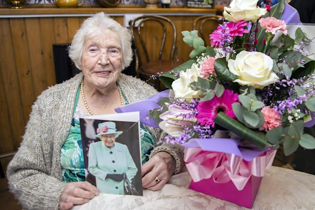 The 105-year-old is known to most of her family as Auntie Nelly. (SWNS)