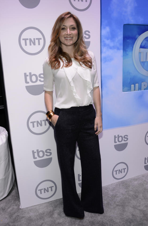 """Sasha Alexander (""""Rizzoli and Isles"""") attends the TNT/TBS 2012 Upfront Presentation at Hammerstein Ballroom on May 16, 2012 in New York City."""