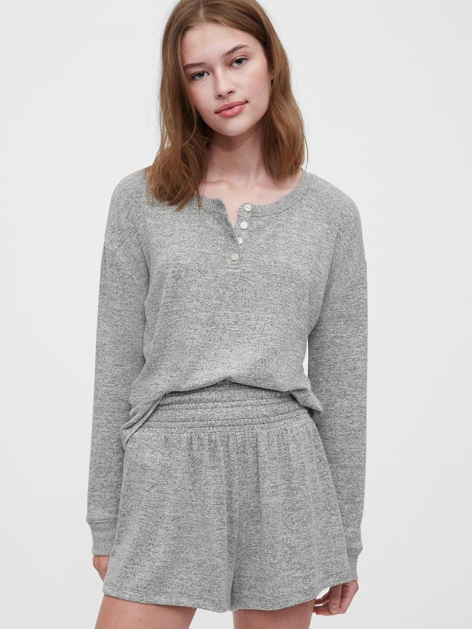 <p>Slightly cropped, this <span>Gap Softspun Henley Top</span> ($32, originally $45) is perfect for a relaxed look and if you have a shorter torso. Wear it to sleep or tucked into your favorite high-waisted jeans!</p>
