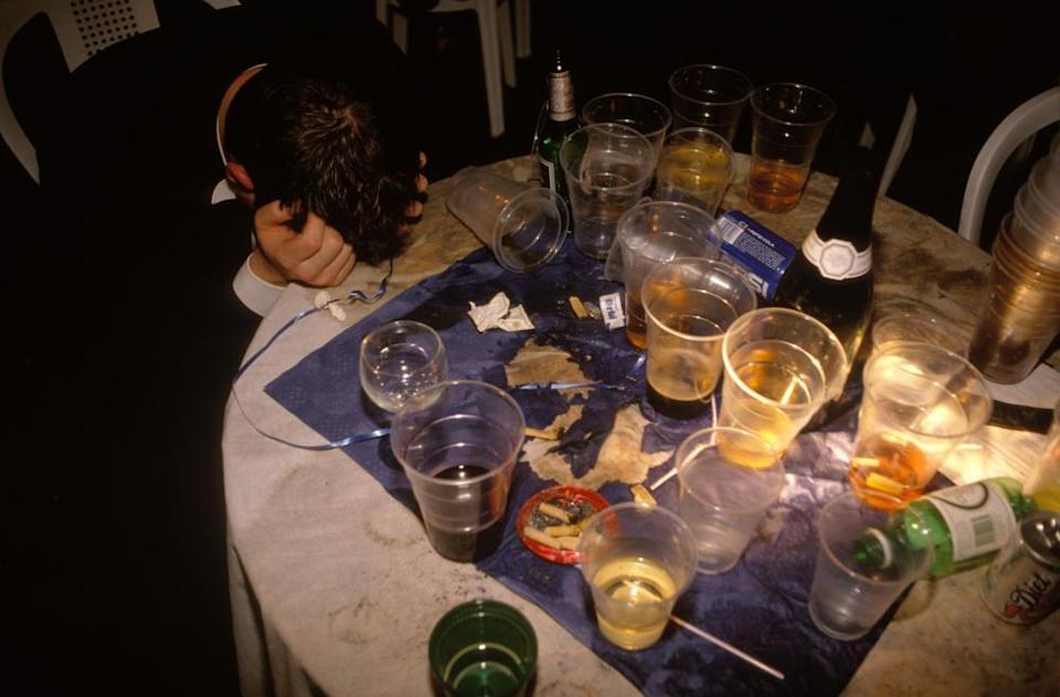 A typically quiet night out in the 1980s.