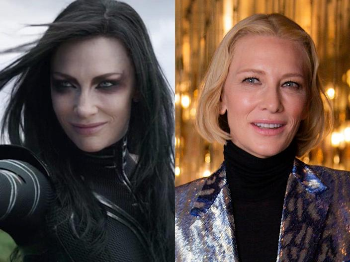 cate blanchett thor ragnarok then and now