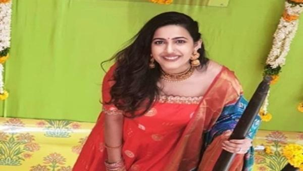 Niharika Konidela Enjoys Pasupu Ceremony At Home After Engagement Pics Go Viral On The Internet