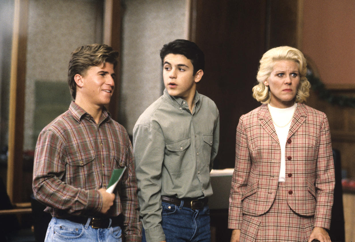 "Jason Hervey, left, Fred Savage, and Alley Mills in the 1992 episode ""Let Nothing You Dismay."" (Photo: ABC Photo Archives/ABC via Getty Images)"
