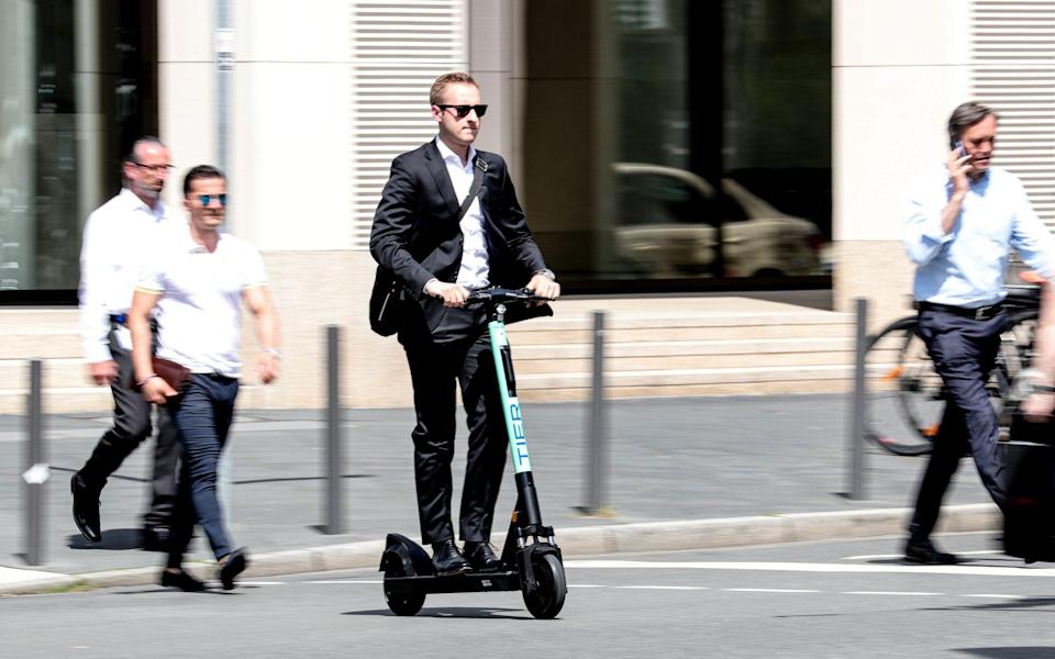 Electric scooter trials will be able to take place in the UK from the weekend - REX
