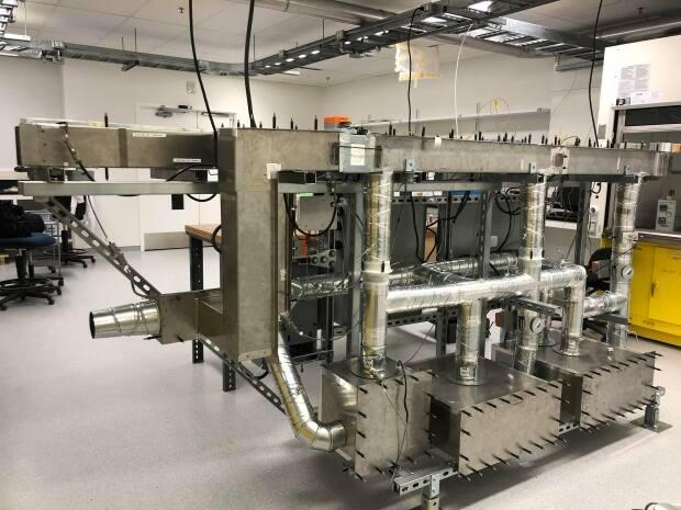 An HVAC system in a University of Alberta laboratory. Yousef Alipouri has received funding to study smarter controls for ventilation systems to combat viruses like COVID-19. (Submitted by Yousef Alipouri - image credit)