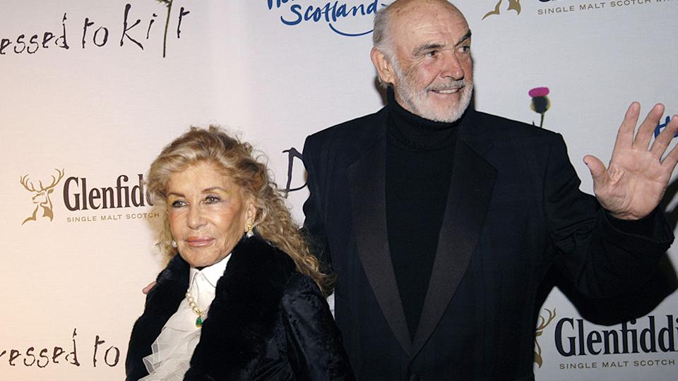 Sean Connery and his wife Micheline Roquebrune married in 1975 and were together until his death in 2020. Source: Getty