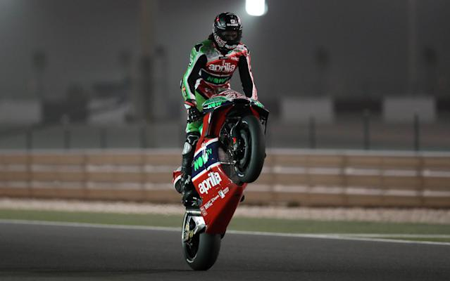 Motorcycle Racing - Qatar Motorcycle Grand Prix - MotoGP First Qualifying Session - Losail, Qatar, March 17, 2018 - Aprilia Racing Team Gresini rider Scott Redding of Britain competes. REUTERS/Ibraheem Al Omari