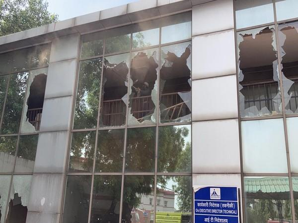 Visual of the incident at IT building of Safdarjung Airport (Photo/ANI)