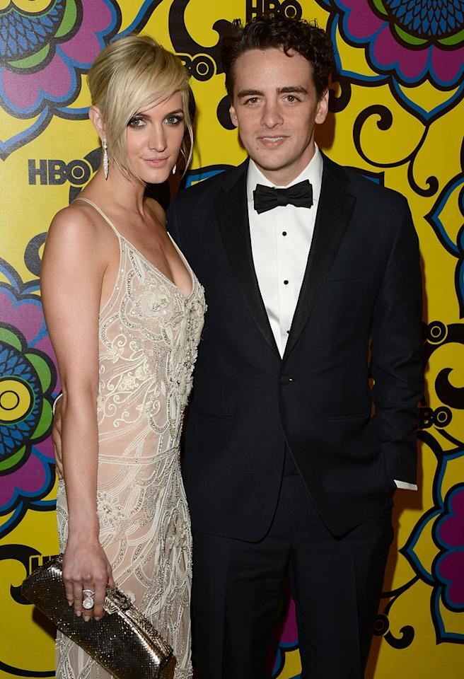 LOS ANGELES, CA - SEPTEMBER 23:  Actors Ashlee Simpson and Vincent Piazza arrive at HBO's Official After Party at The Plaza at the Pacific Design Center on September 23, 2012 in Los Angeles, California.  (Photo by Jason Merritt/WireImage)