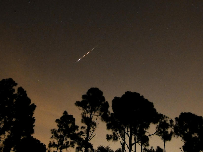 Meteor shower visible this weekend