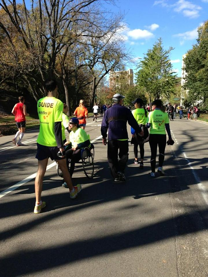 Charity walkers determined to finish the #unofficial #nycmarathon