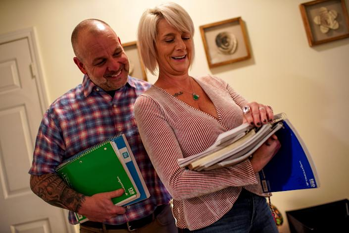 Bret and Susan Fenske filled up multiple notebooks with notes about everything from love to forgiveness.