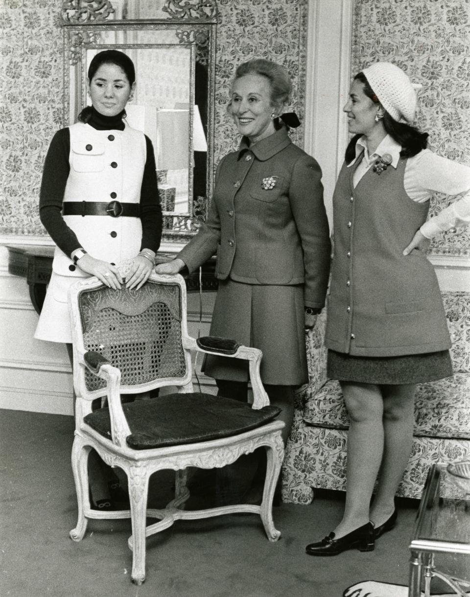 Estée Lauder with her daughters-in-law, Jo Carole and Evelyn.