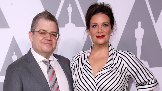 Comedian Patton Oswalt and actress Meredith Salenger wed in November last year, and Oswalt is sharing some heartwarming details from the big day.