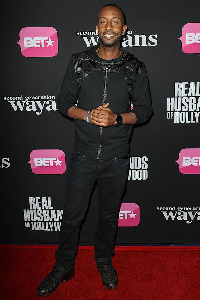 "James Davis arrives at the screenings of BET Networks' ""Real Husbands of Hollywood"" and ""Second Generation Wayans"" held at the Regal Cinemas L.A. Live on January 8, 2013 in Los Angeles, California."