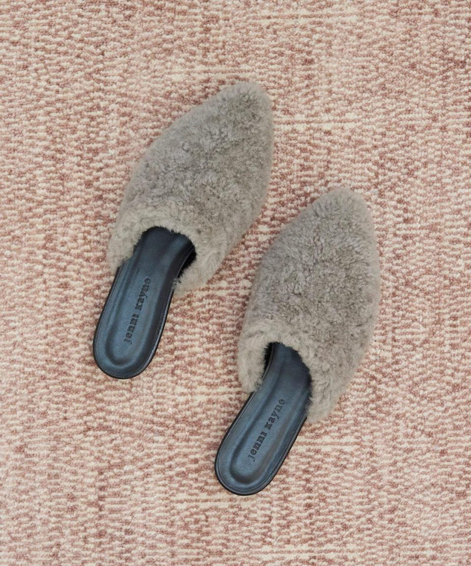"""<p><span>Jenni Kayne Shearling Mule</span> ($395) </p> <p>""""We've been living in slippers and sweatpants, so we might as well embrace it with a pair of house shoes that feel really, really chic. This luxe pair from Jenni Kayne are perfect for lounging at home, but they're totally street-ready when you do want to throw them on with jeans and head out the door."""" - HWM</p>"""