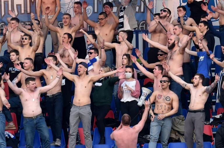 Minsk fans at Saturday's derby against Dinamo