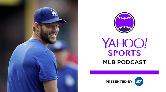 Dodgers ace Clayton Kershaw joins the Yahoo Sports MLB podcast to talk about fatherhood, who he admires and the possibility of reaching 300 wins. (AP)