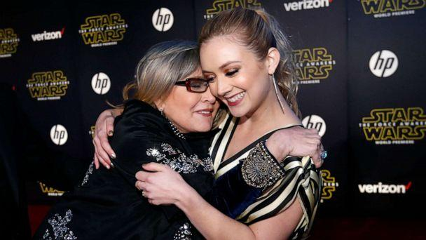 PHOTO: Actresses Carrie Fisher (L) and Billie Lourd embrace as they arrive at the premiere of 'Star Wars: The Force Awakens' in Hollywood, Calif., December 14, 2015. (Mario Anzuoni/Reuters, FILE)