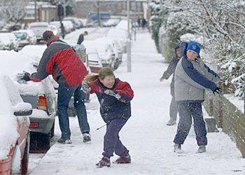 Fight! Some south London children make the most of their journey to school <br></br>Picture by Peter Jordan