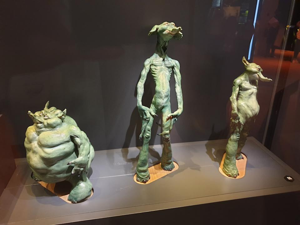 Early models of Gungan Jar Jar Binks at the Star Wars Identities exhibition in Singapore at the Artscience Museum. (Photo: Teng Yong Ping)