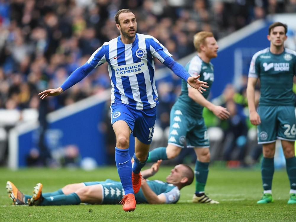 Earlier Glenn Murray got Brighton on their way (Getty)