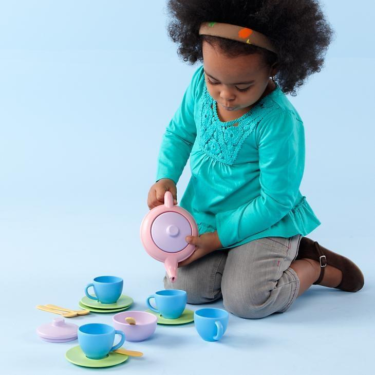 <p>Every little girl loves a tea party, so gather up the stuffed-animal guests and start brewing. The addition of cakes, tea sandwiches, and British accents is optional but recommended.</p>