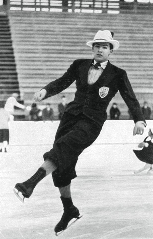 <p>'Men used to wear suits in the '30s and '40s to compete,' Weir says - he prefers today's costumes over the dressier versions (see slide #10 for why). Here, British ice skater Jack Edward Dunn wears a suit and a stylish hat to top it off.</p>