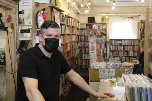 Gary Worsley, the owner of Cheap Thrills, first visited the shop in 1985 and says not much has changed since.  (Rowan Kennedy/CBCY - image credit)