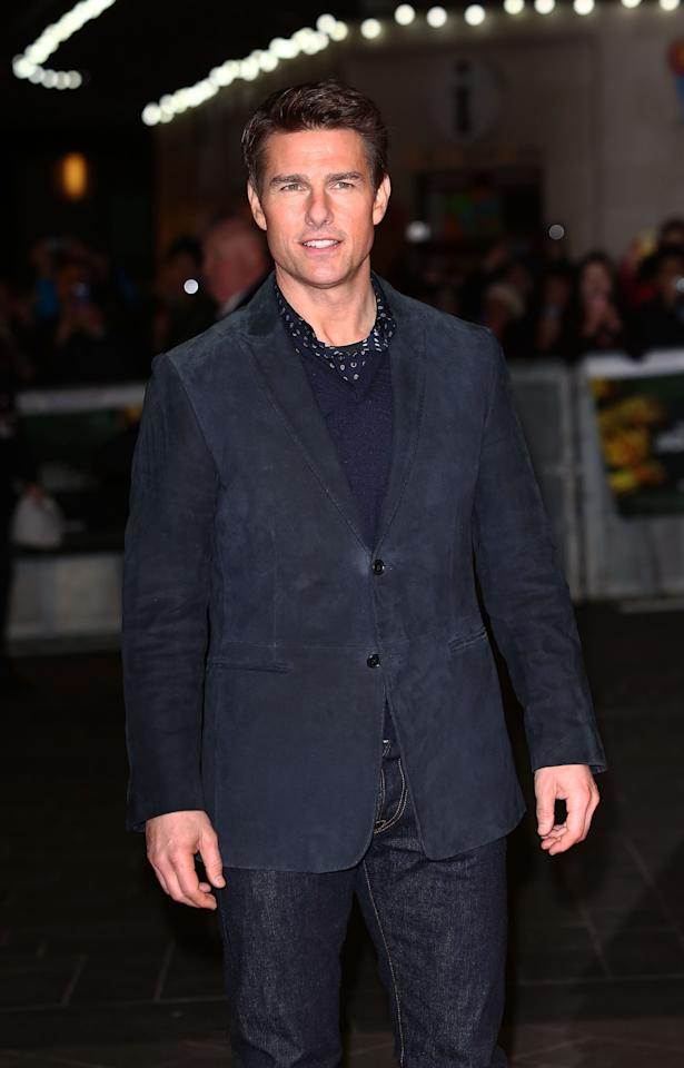LONDON, ENGLAND - DECEMBER 10:  Tom Cruise attends the World Premiere of 'Jack Reacher' at Odeon Leicester Square on December 10, 2012 in London, England.  (Photo by Tim Whitby/Getty Images)